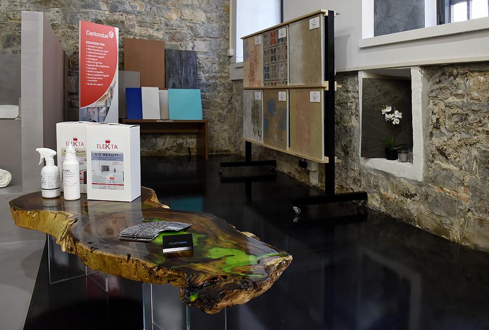 ristrutturazione negozio resina colorata pordenone fvg